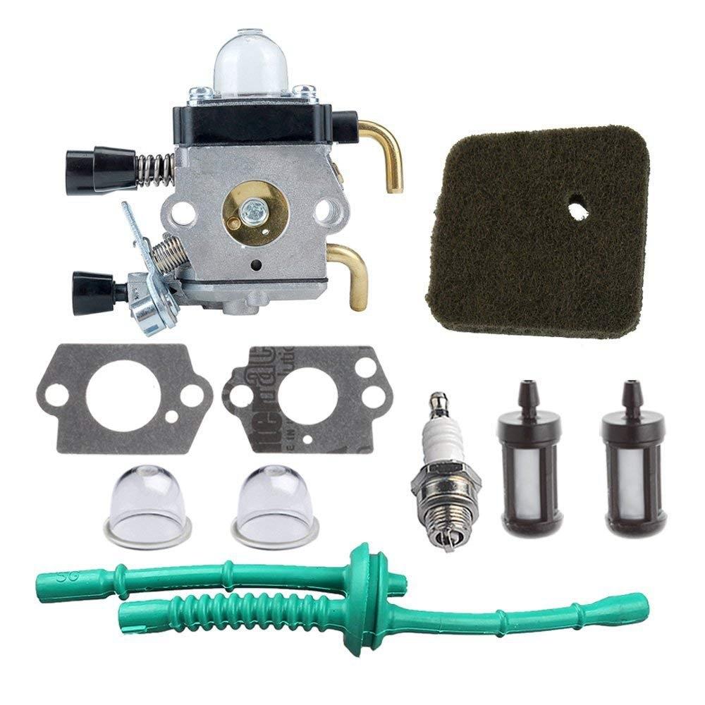 C1Q-S97 Carburateur avec Filtre À Air Carburant Kit pour STIHL FS38 FS45 FS46 FS55 KM55 HL45 FS45L FS45C FS46C FS55C FS55R FS55RC