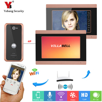YobangSecurity APP Remote Control 2X 7 Inch Monitor Wifi Wireless Video Door Phone Doorbell Camera Video Door Intercom System