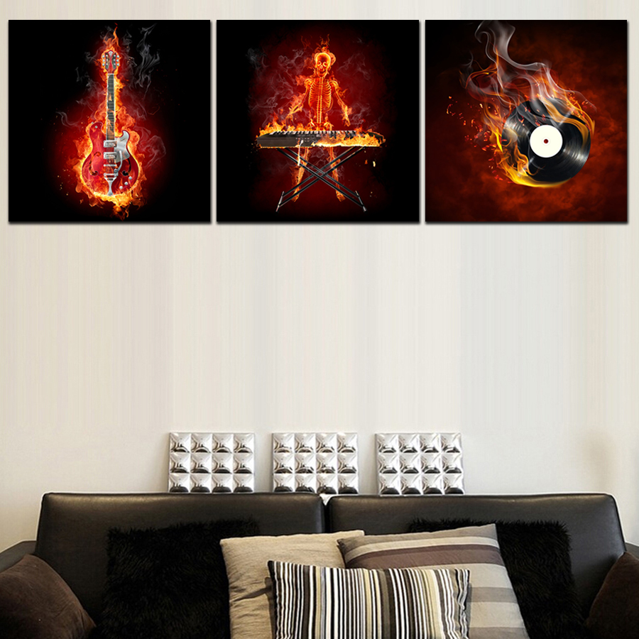 popular modern canvas paintingsbuy cheap modern canvas paintings  -  piece canvas wall art pictures modern canvas painting music equipmenthome decorative paint on canvas
