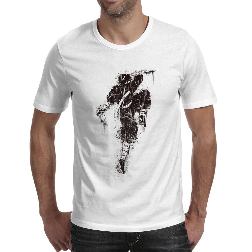 Camiseta Ninja Arrival Marca Pop Rock Camiseta Punk Skate Design - Ropa de hombre