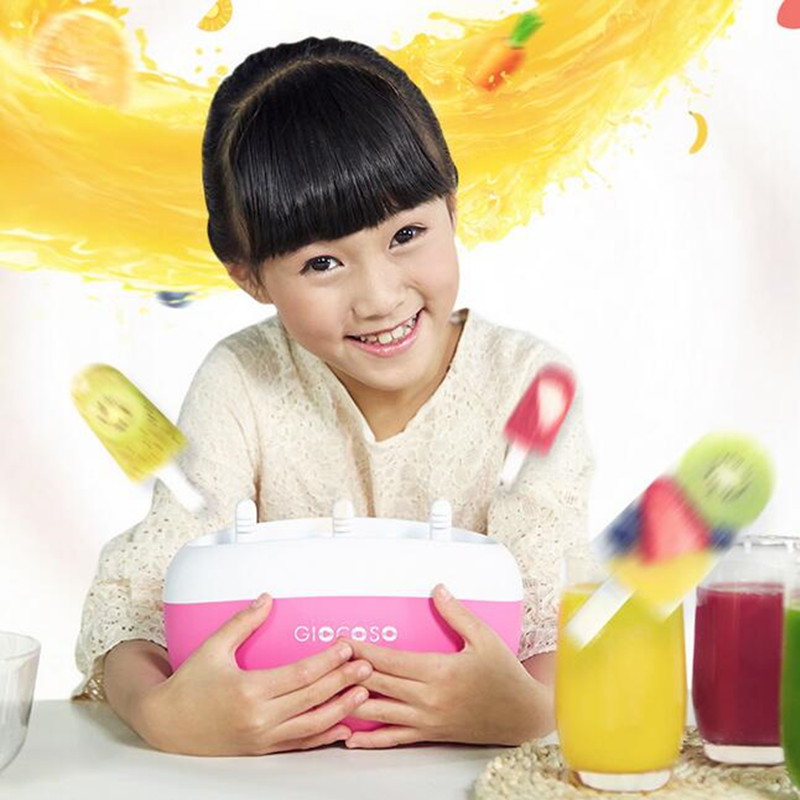 Manual DIY Ice Cream Machine With Fruit Juice 2/3 Hole Popsicle Maker Ice-lolly Machine High Quality For Children Gift