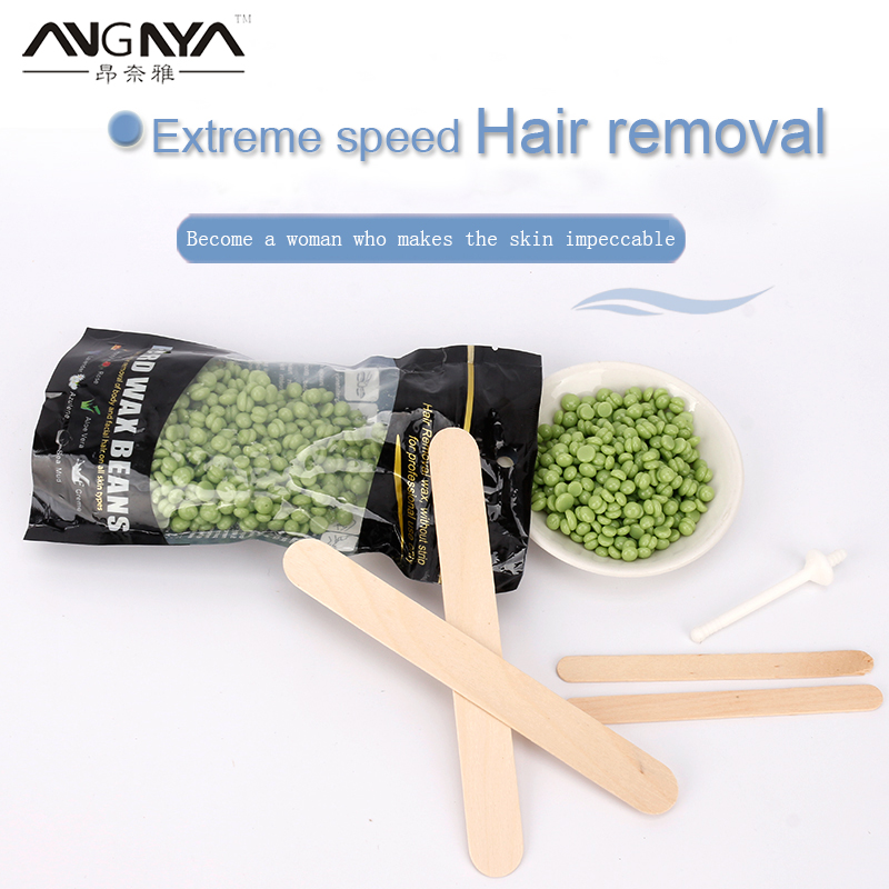 ANGNYA 100g Wax Beans Removal Body Waxing Pellet Painless Depilatory Sugaring Depilation Female Hair Solid Depilatory Wax A094