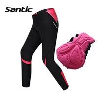 Santic Cycling Women Long Pants 4D Coolmax Padded Road Mountain Bike Pants Breathable MTB Bicycle Pants