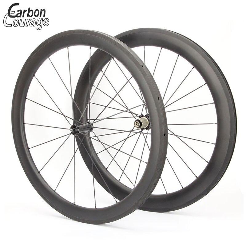 Factory Sale 50mm Full Carbon Wheelset Clincher With Black Nova tec 271 Hub Black Spokes  Nipples Carbon Wheels Bicycle Wheel princeton tec torrent led black