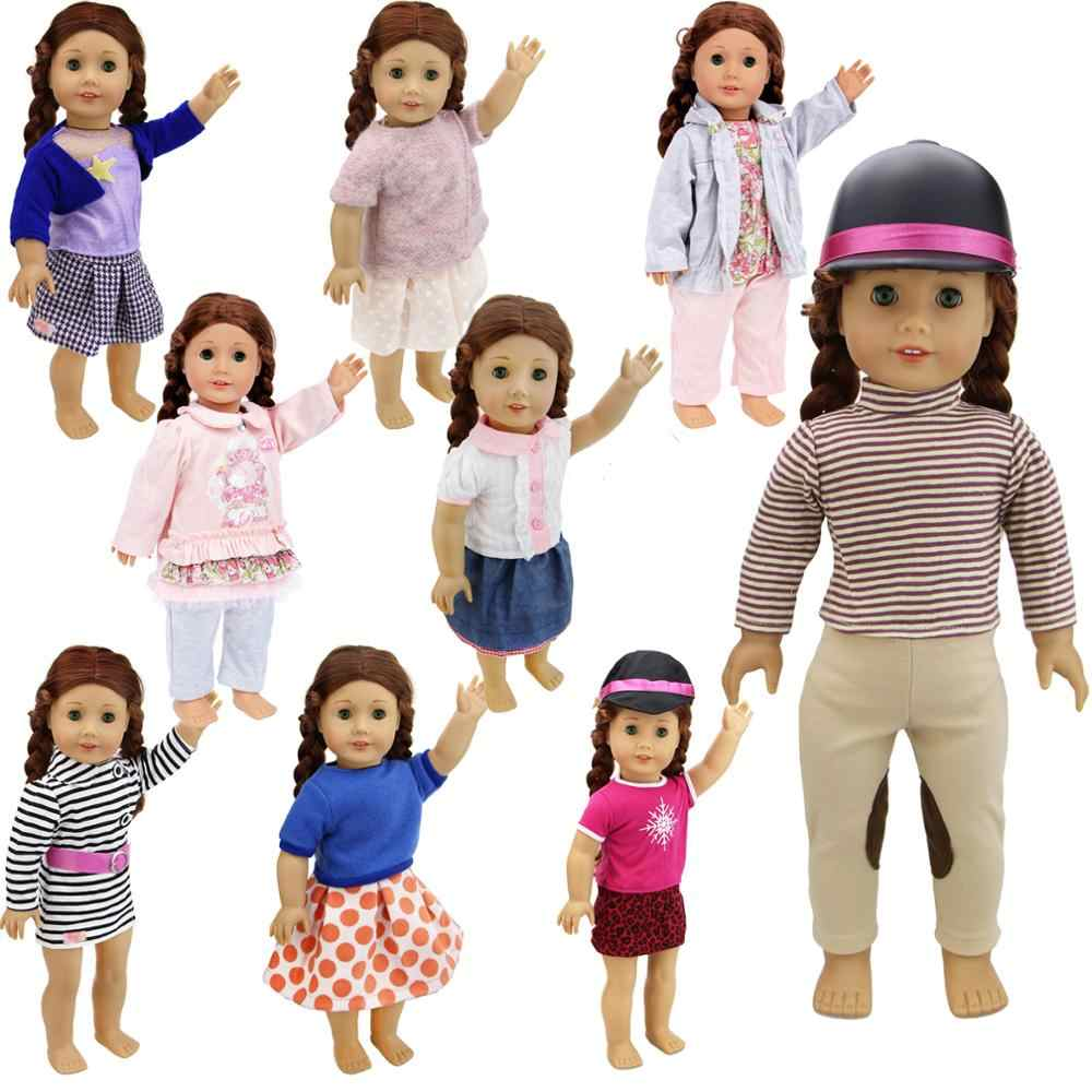Fashion Lovely High Quality Casual Dress Outfit Skirt Pants 18'' Accessories Doll Clothes for American Girl Doll Baby Kids Toy