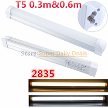 50pic/lot PVC T5 neon LED fluorescent Tube Light Lampada 30cm 60cm Integrated 0.3m 6W 0.6m 10W Light Lamp AC110V 220V 240V White