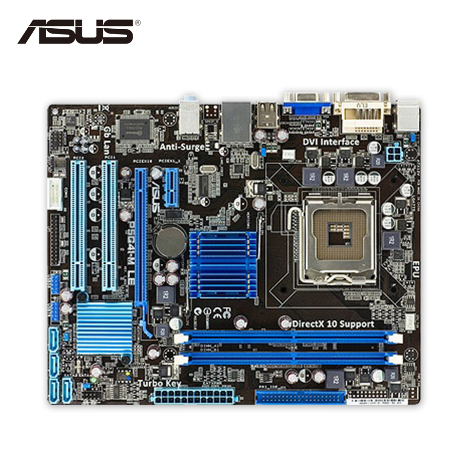 Asus P5G41-M LE Desktop Motherboard G41 Socket LGA 775 DDR2 8G SATA2 USB2.0 uATX Second-hand High Quality asus p5g41 m le original used desktop motherboard g41 socket lga 775 ddr2 8g sata2 usb2 0 uatx