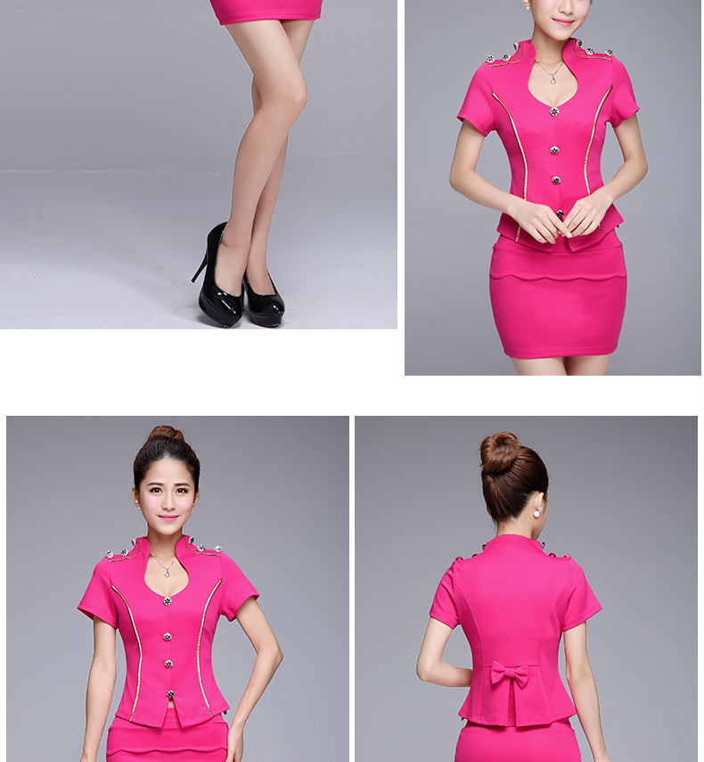 Women Working Suit 2016 New Skirt Short Sleeve Button Office Slim ...