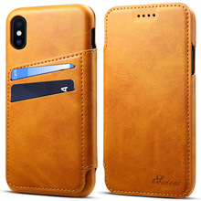 Luxury Flip Leather Phone Case For iPhone 8 7 6 Plus Wallet Card Slots Cases Cover For iPhone X XS Max XR 8 Plus Case