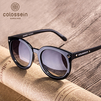 COLOSSEIN Fashion Polarized Sunglasses Black TR Frame UV400 Protected Sports Brand Sunglasses For Outdoor Shopping Driving