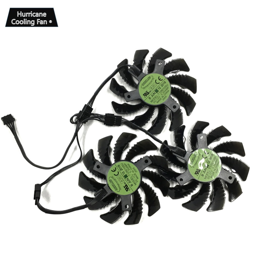 Image 5 - 75MM T128010SU 0.35A Cooling Fan for Gigabyte AORUS GTX 1060 1070 1080 G1 GTX 1070Ti 1080Ti 960 970 980Ti Video Card Cooler Fan-in Fans & Cooling from Computer & Office