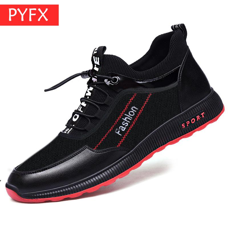 New Fall 2009 New Leather Mesh Two Men 39 s Black Flat Bottom Wear resistant Comfortable Simple Outdoor Fitness Running Shoes in Men 39 s Casual Shoes from Shoes