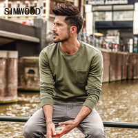 SIMWOOD Hoodies Men Slim Fit Vintage Sweatshirts Male Fashion Casual High Quality O Neck Pullovers Brand