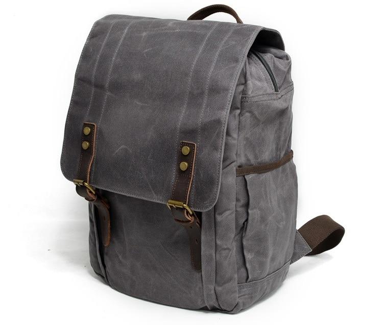 Cheap men canvas backpack