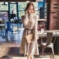 Женщины Свитер Длинный Кардиган Мода Зима Стиль С Длинным Рукавом Тонкий Вязаный Кардиган Утолщение Женские Свитера LY808