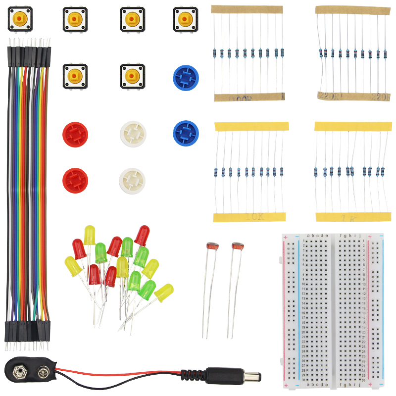 Raspberry Pi 3 Portable Kit Resistor Jumper Wires Breadboard Handy Starter Kit for UNO R3
