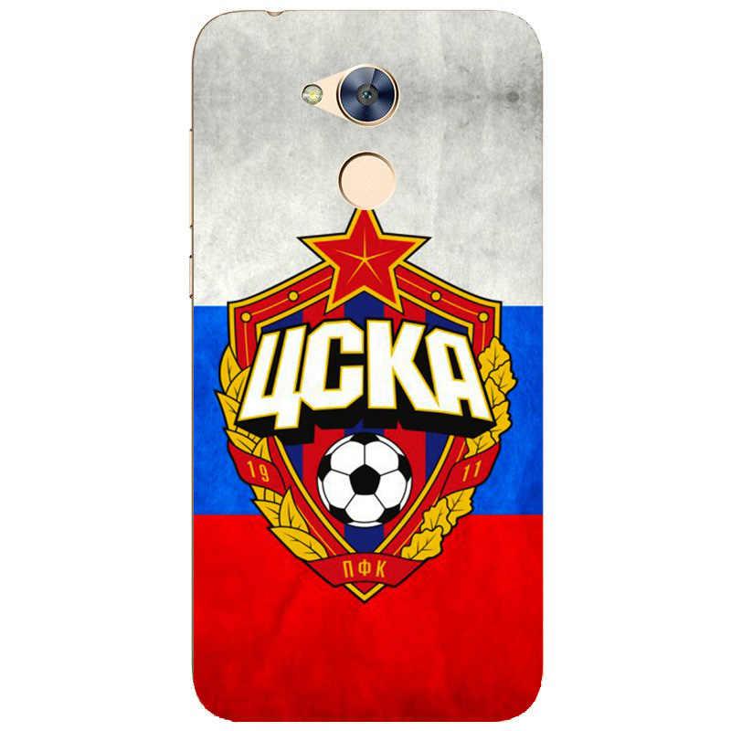 PFC ЦСКА, логотип футбольного клуба, мягкий силиконовый чехол для рисования, для Huawei Honor 6a (Pro)/Honor 5C Pro, чехол для смартфона с принтом
