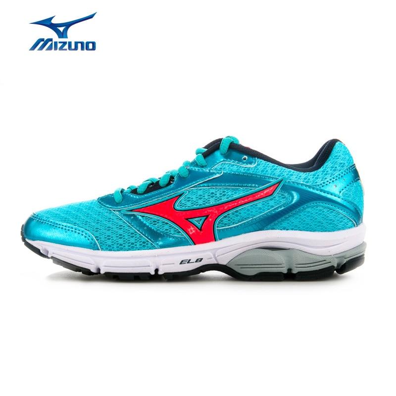 MIZUNO Women's WAVE IMPETUS 4 Jogging Running Shoes Wave Cushion Sneakers Breathable Sports Shoes J1GD161360 XYP483 mizuno men rebula v3 ag professional cushion soccer shoes sports shoes comfort wide sneakers p1ga178603 yxz069