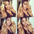 Top Quality Peruvian Virgin Human Hair 100% Real Virgin Hair Wigs Big Weave Ombre Colour Hair  8''-26''In Stock Free Shiping