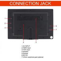 7 Inch HD IPS 1024*600 TFT LCD Multifunction Car Headrest Monitor support HDMI / VGA / AV / Wireless Mobile Phone Mirror Link
