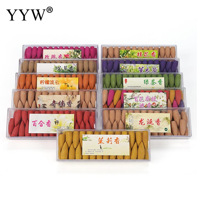 52pc Box Cones Aromatherapy Oud Perfume Wierook Sandalwood Flower Scent Backflow Incense Cones India Home Scent Aroma Diffuser in Incense Incense Burners from Home Garden