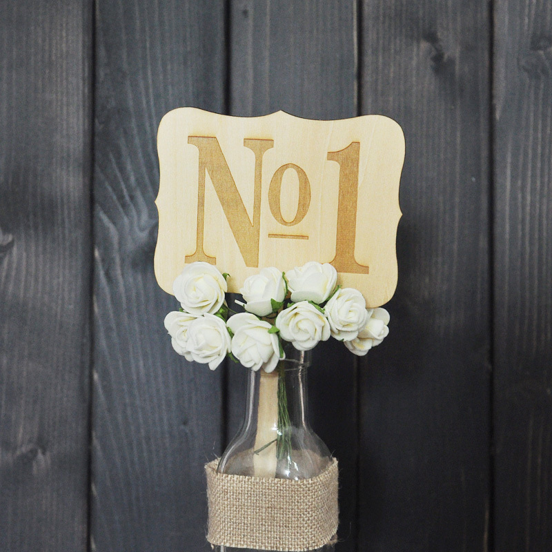 Personalized Rustic Wedding Table Numbers 10pieces/lot Wooden Wedding Table Cards