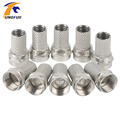 Tungfull New Copper Twist On RG6 F Type Coaxial Cable Connector Plugs High Quality Connector For TV Satellite Virgin Cable