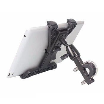 Universal Bike Mount Bracket Motorcycle Tablet PC Stand Holder Aluminum Alloy 360 Degrees Rotating GPS Holder For 7-10.1 Inch PC