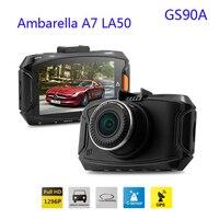 Ambarella A7LA50 GS90A Car DVR Recorder With GPS 2304 1296P Dash Cam Full HD 2 7
