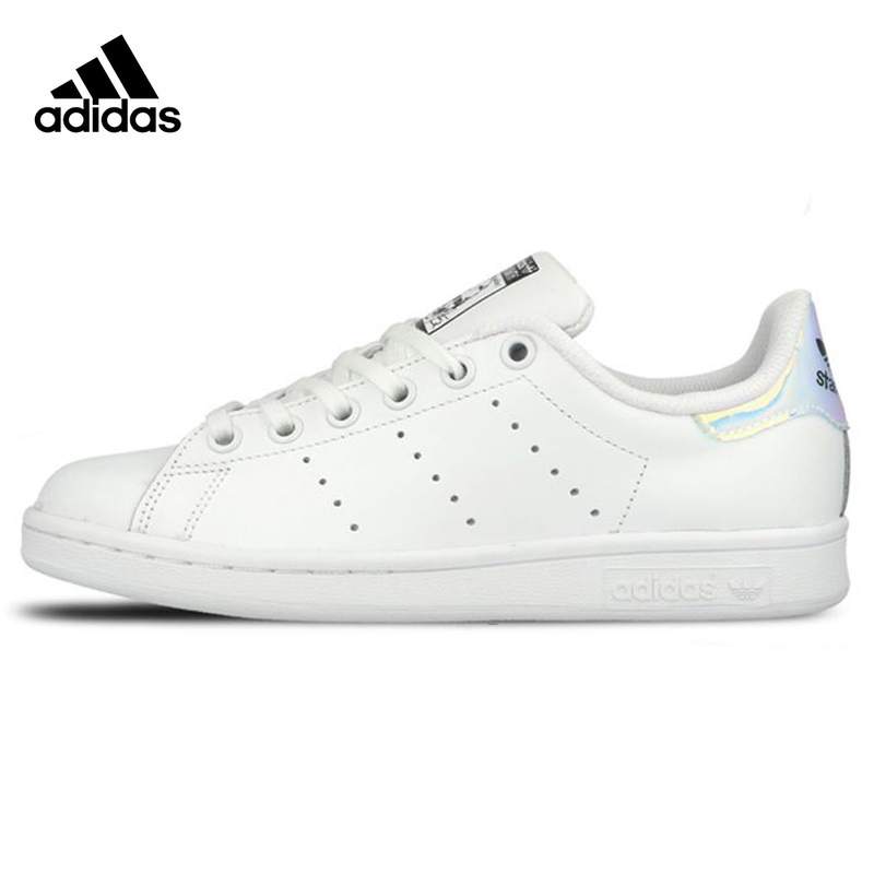 цена на Adidas Clover StanSmith Women Skateboarding Shoes,white,Original Sneakers Sport Shoes Non-slip Lightweight Breathable AQ6272