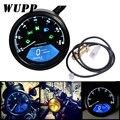 WUPP Motorrad Meter LED digita Anzeige licht Drehzahlmesser Kilometerzähler Öl Meter Multifunktions Mit nachtsicht zifferblatt-in Instrumente aus Kraftfahrzeuge und Motorräder bei