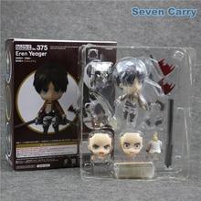 Anime #375 Attack on Titan Eren Jaeger Q Version Nendoroid PVC Action Figure Model Collection Toy 10CM