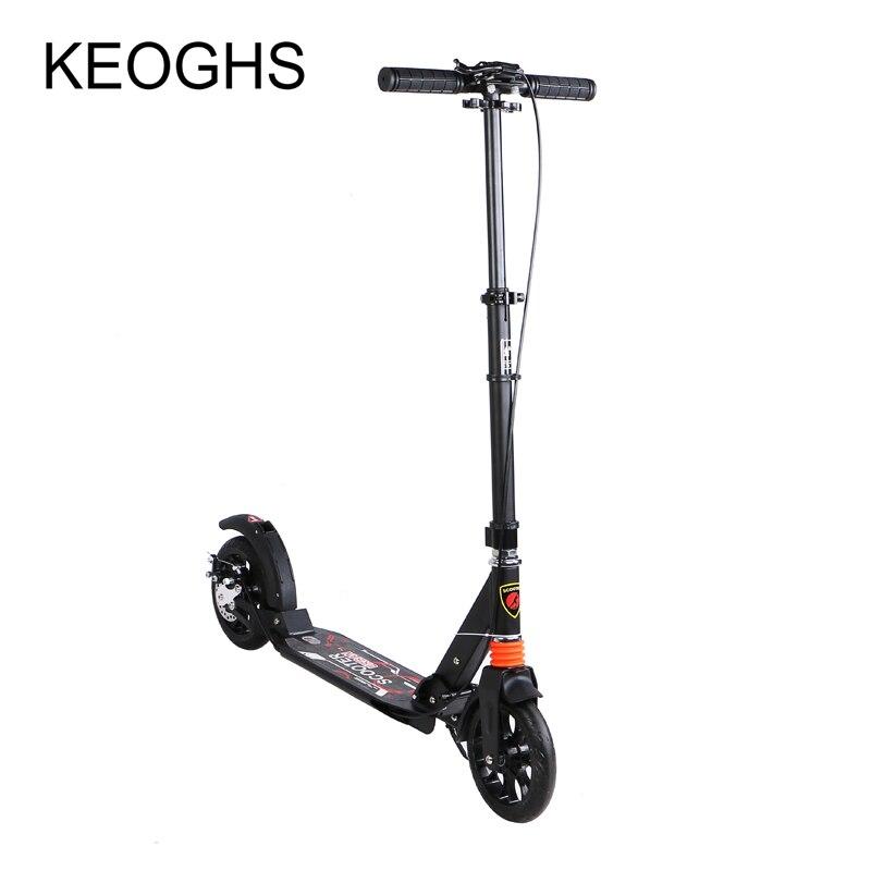 Adulte enfants coup de pied scooter pliable PU 2 roues musculation tout aluminium absorption des chocs urbain campus transport