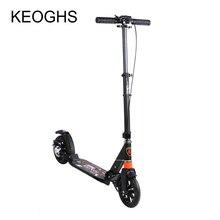 Người con trưởng thành Kick Scooter Có Thể Gập Lại PU 2 bánh xe tập thể hình tất cả bằng nhôm chống sốc đô thị trường sở Giao thông vận tải