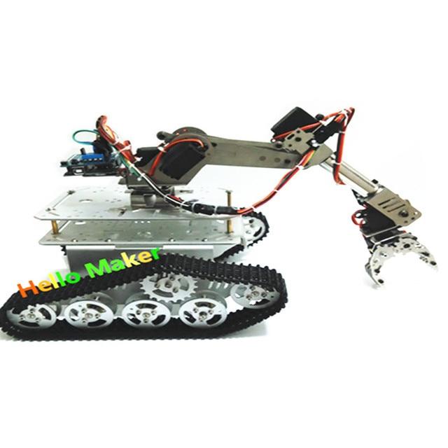 7 DOF робот рука Танк автомобиля алюминиевое шасси ABB промышленный робот модель электронный конкурс DIY робот
