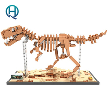 Mini Nano Blocks Dinosaur LOZ Building Blocks Tyrannosaurus Rex Action Figure Diamond Blocks Compatible Legoelieds 9023