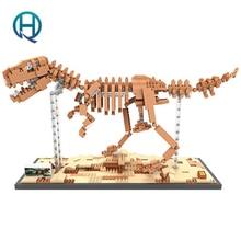 Mini Nano Blocks Dinosaur LOZ Building Blocks Tyrannosaurus Rex Action Figure Diamond Blocks Compatible Legoelieds 9023