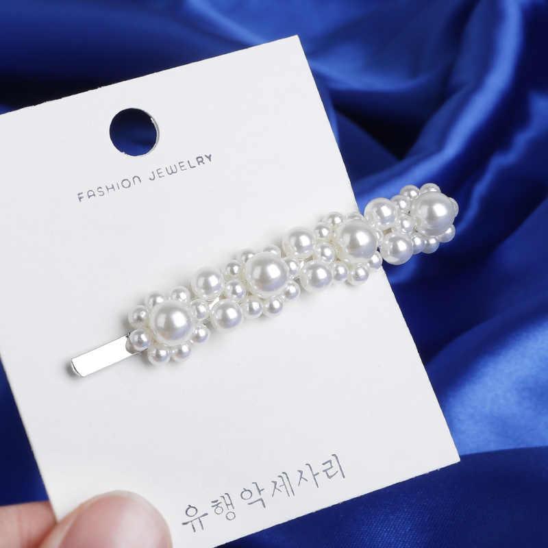 Новые 7 видов стилей женские металл серебристого цвета шпильки с жемчугом Женские Простые волосы зажимы Заколки Головные уборы Инструменты для укладки волос аксессуары