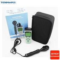 Portable AIR Velocity Meter Anemometer Temperature Sensor TM401