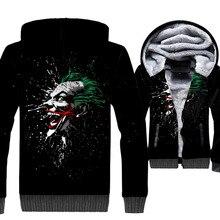 цена The Killing Joke Joker 3D Hoodies 2019 Casual Winter Men Jacket Warm Fleece Batman Super Hero Tracksuit Swag Hooded Streetwear онлайн в 2017 году