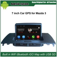 Car GPS Navigation For MAZDA 3 With 7 Inch Digital LCD And GPS Bluetooth A2dp PIP