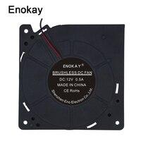 1pcs Enokay DC 12 Volt 2Pin 12032 120x120x32mm Ball Bearing Computer Blower Fan 120mm