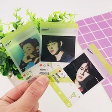 Лидер продаж Модные 5/7/9 шт./компл. BTS GOT7 дважды Фотокарта Kpop INS прозрачный карты Корея группа Star DIY Бумага карта с фотографией