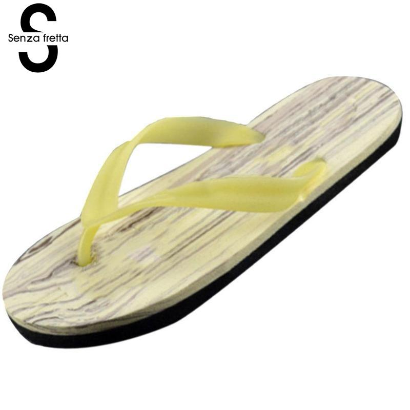 Senza Fretta 2018 Summer Men Flip Flops Slippers Casual Outdoor Home Flip Flops Men Summer Beach Flip Flops Men Shoes Plus Size senza fretta men shoes flip flops beach sandals casual summer eva slippers shoes men casual non slip sandals flip flops shoes