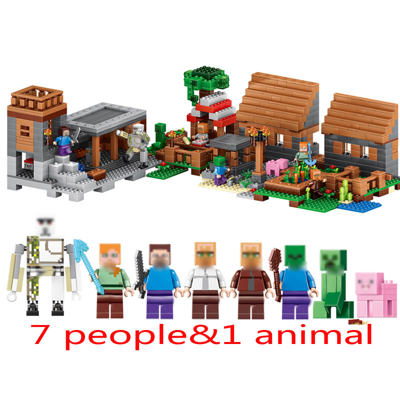 Mailackers-Lepin-Legoing-Minecrafts-18010-The-Village-1106Pcs-My-World-Building-Blocks-Toys-Children-For-Legoing (4)