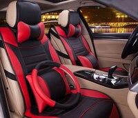 Schwarz Rot Vollständigen Satz Mikrofaser Leder Auto Sitzbezug Auto Innen Abdeckungen Passend Für 95% Autos