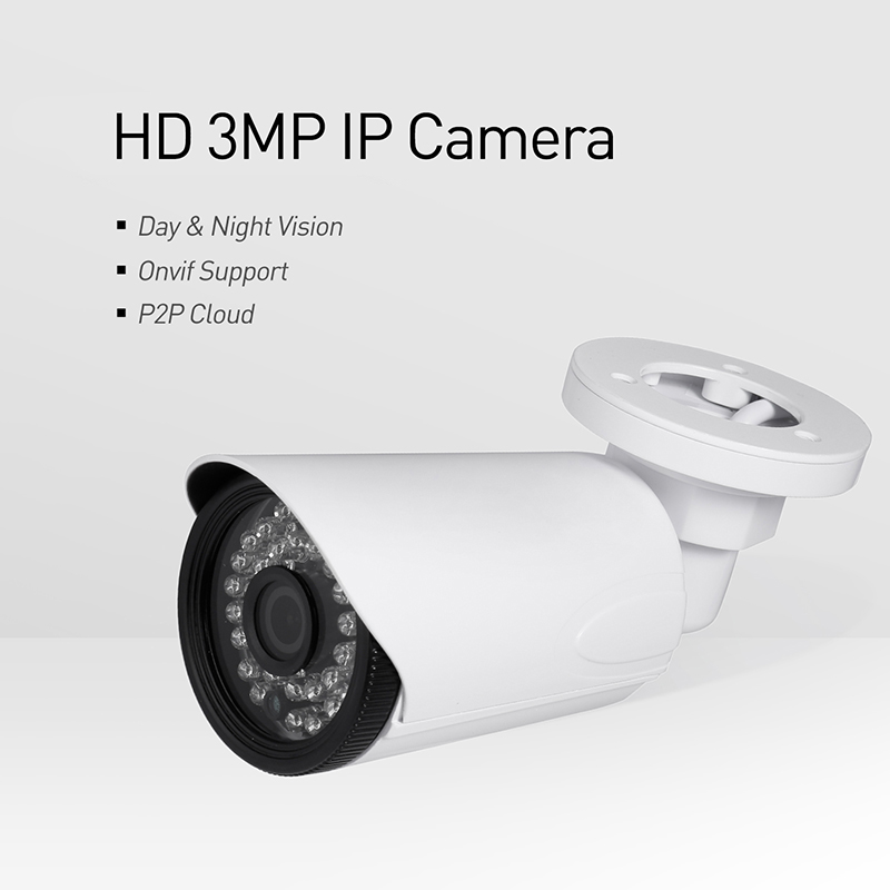 Image 2 - H.265 POE Waterproof 3MP 1296P / 1080P Outdoor IP Camera IR LED Bullet Security Night CCTV Video Surveillance HD Cam System-in Surveillance Cameras from Security & Protection