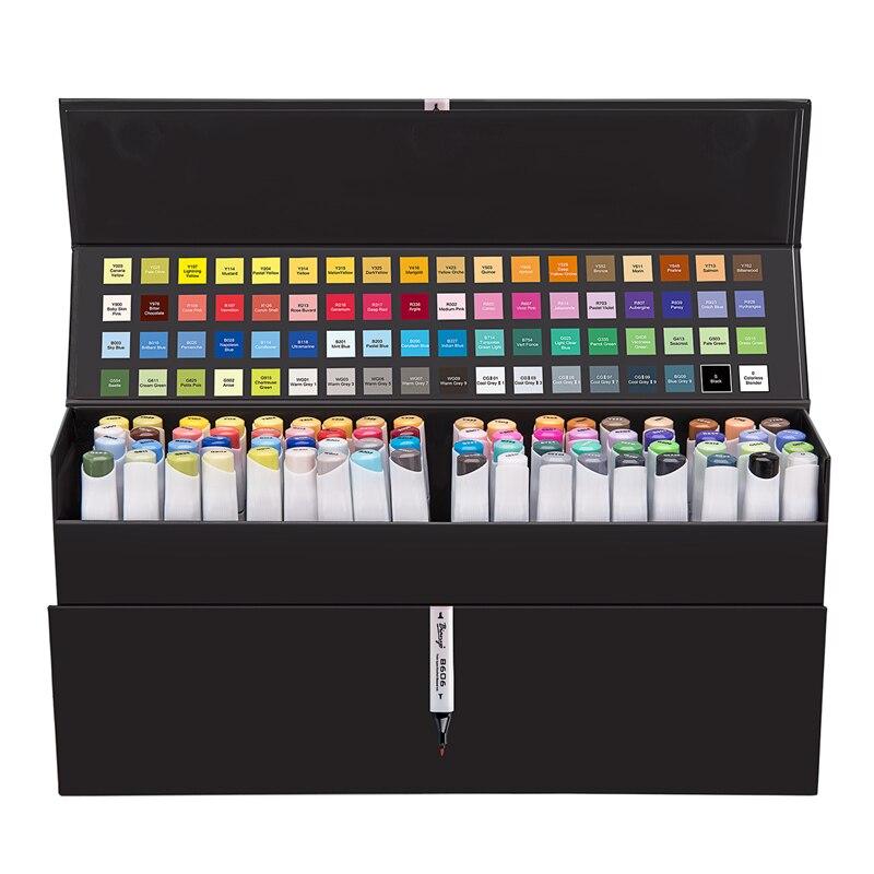 Bianyo Sketch Art Marker Pen For Drawing 72 Colors Watercolor Pens Artist Twin Markers Dual Head Water Marker School Supplies