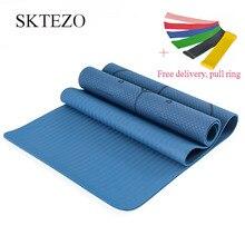 лучшая цена 6MM Big Yoga Mats Major TPE Non-slip Pilates Exercise Mat 183X80CM Gymnastics Dance Pad For Beginner Plus Size Fitness Tapete