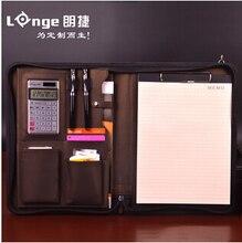А4 на молнии старший кожа бизнес-менеджер конференц-папка файлов организатор для продажи недвижимости с ipad карман W020